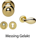 Deurbeslag-set-Messing-gelakt