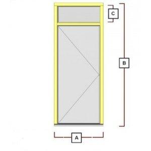 Vaak hardhouten deurkozijn met bovenlicht KD81