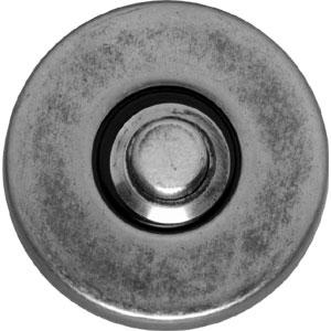 Beldrukker rond verdekt oud grijs