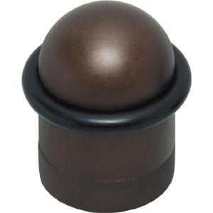 Deurstop met ring mat bruin