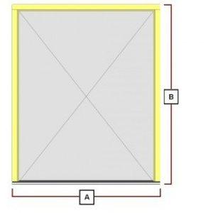 hardhouten deurkozijn (voor dubbeledeuren)