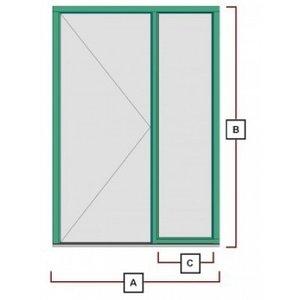 hardhouten deurkozijn met zijraam rechts