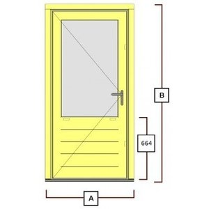 hardhouten deurkozijn inclusiefdeur WK046
