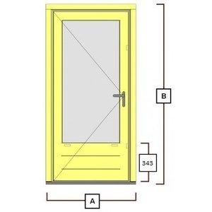 hardhouten deurkozijn inclusiefdeur WK043