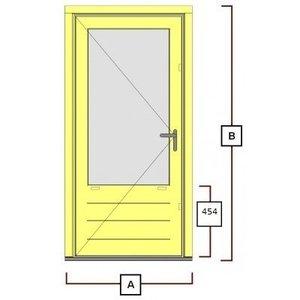 hardhouten deurkozijn inclusiefdeur WK044
